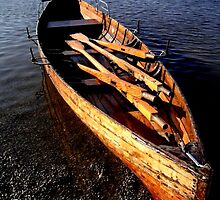 Rowing Boat in Autumn Light by gothgirl