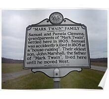 MARK TWAIN- HISTORICAL LAND MARK Poster