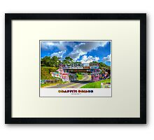 Graffiti Bridge - A Pensacola Landmark (wText) Framed Print