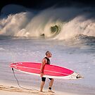 Tom Carroll at Waimea Bay 2014 by Alex Preiss