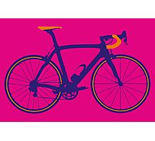 Bike Pop Art (Purple & Orange) Photographic Print