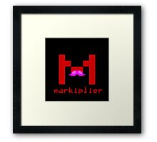 Markiplier Logo With Pink Mustache! Framed Print