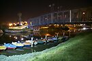 Yarkon river Tel Aviv Israel at night by Moshe Cohen
