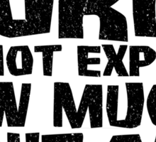 Words cannot express how much I don't care Sticker