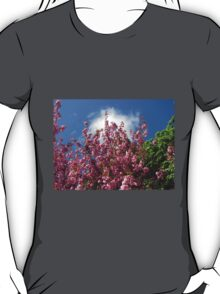 Blue Sky and Pink Blossoms T-Shirt