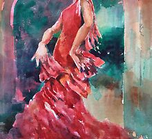 Flamenco Dancer - Dance Art Gallery 9 by Ballet Dance-Artist