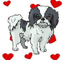 Japanese Chin Love by kwg2200
