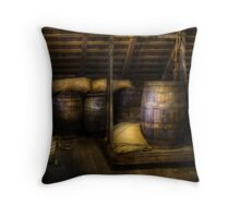 Barrels - HDR Throw Pillow