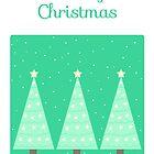 Merry Christmas postcard by Alexandra Salas