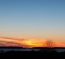 Sunset Jonesport Maine  by TKPhotos