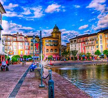 Portofino Bay Art by Roland Pozo