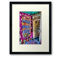 Bubblegum Graffiti Framed Print