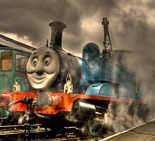 Thomas At The Platform by Dave Warren