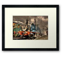 Thomas At The Platform Framed Print