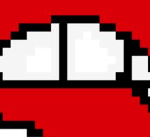 Pixel Lip Bite Sticker