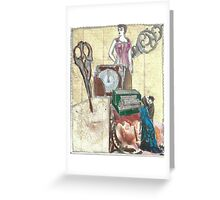 Dresses; While You Wait!(Invented By A Woman,Of Course:-) Greeting Card