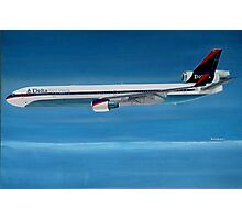 Delta Air Lines MD-11 Photographic Print