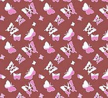 Marsala and Pink Butterflies by Greenbaby