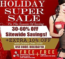 Holiday Super Sale by stacymolugo