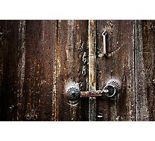 Beypazari Door Handle (Brown) Photographic Print