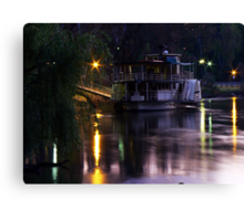 Riverboat Sunset.... Canvas Print