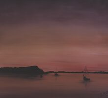 Sunset in the Bay by Dennis Knecht