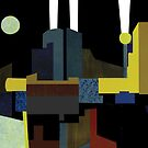 Moon Over World Trade Center 1999 by Dennis Knecht