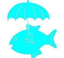 Fish with umbrella by mborgali