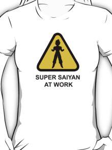 Super Saiyan at work - Road Sign - TShirt T-Shirt