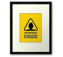 Attention! Evolution in progress - Super Saiyan Tshirt Framed Print