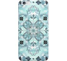 Soft Mint & Teal Detailed Lace Doodle Pattern iPhone Case/Skin
