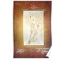 Statue If Liberty Original Patent By Bartholdi 1879 Poster