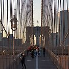 Brooklyn Bridge Sunset by Mark Thompson