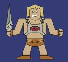 Flat He-Man by horatiohayden