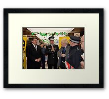 Boris Johnson with Metropolitan Police Commissioner Sir Bernard Hogan-Howe Framed Print