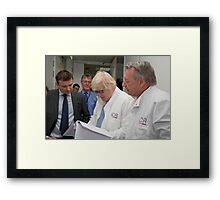 Boris Johnson visits the Institute of Cancer Research Framed Print