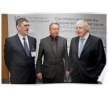 Niall Bolger with Paul Workman and Boris Johnson Poster