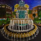 Pineapple Fountain, Charleston, SC by Karen L Ramsey
