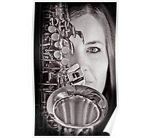 Sax Love Music Baby Poster