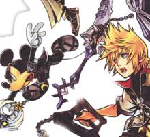 Kingdom Heart Birth by Sleep - Terra, Aqua, Ventus and Mickey Mouse Sticker