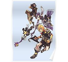Kingdom Heart Birth by Sleep - Terra, Aqua, Ventus and Mickey Mouse Poster