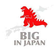 Funny Nerdy Godzilla - Big in Japan by peetamark