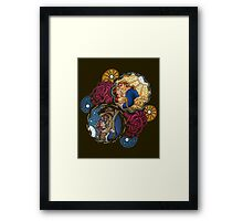 The Beauty and The Beast Disney - Main Scenes Framed Print