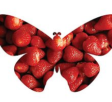 Flying strawberries by Emi Noris