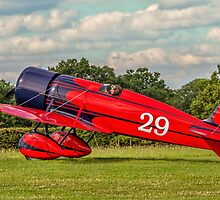 Travel Air Mystery Ship replica G-TATR taxies in by Colin Smedley