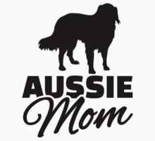 Aussie Australian shepherd Mom by Designzz