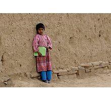 Shcoolgirl in Afghanistan Photographic Print