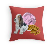 Baet hound spilled the cookies Throw Pillow