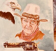 John Wayne and Eagle by dummy