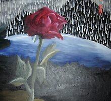 Rose 16X20 Oil On Canvas  by depressedkat